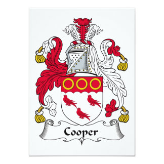 Cooper Family Crest Card