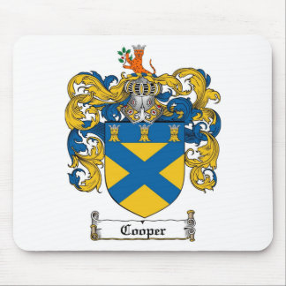 COOPER FAMILY CREST -  COOPER COAT OF ARMS MOUSE PAD