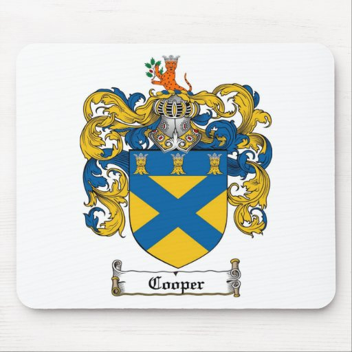 Cooper Family Crest Cooper Coat Of Arms Mouse Pad Zazzle