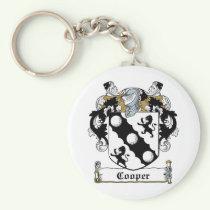 Cooper Family Crest Keychain