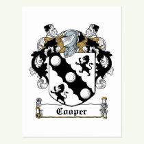 Cooper Family Crest Postcard