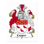 Cooper Family Crest Postcards