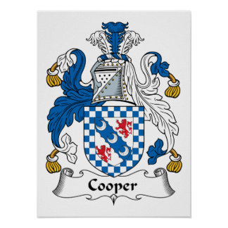 Cooper Family Crest Poster