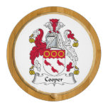 Cooper Family Crest Round Cheese Board