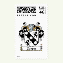 Cooper Family Crest Stamps