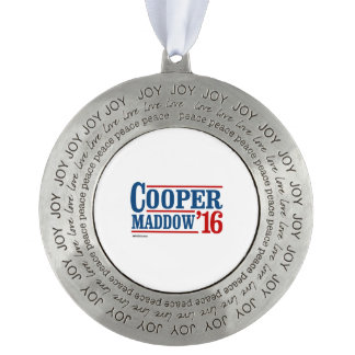 Cooper Maddow 2016 Round Pewter Christmas Ornament