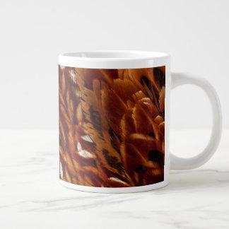 Cooper Pheasant Feather Pattern Giant Coffee Mug