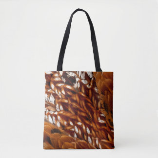 Cooper Pheasant Feather Pattern Tote Bag