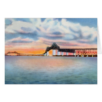 Cooper River Bridge at Charleston South Carolina Greeting Card