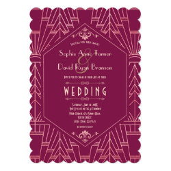 Cooper Rose Great Gatsby 1920s Wedding Invitation