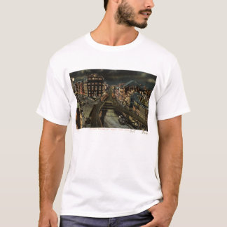 Cooper Square at Night New York City 1907 Vintage T-Shirt