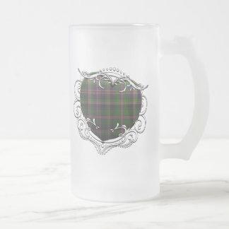 Cooper Tartan Heart Frosted Glass Beer Mug