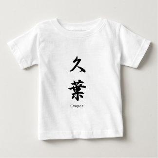 Cooper translated into Japanese kanji symbols. Infant T-shirt