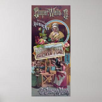 Cooper, Wells & Co. seamless hosiery Poster