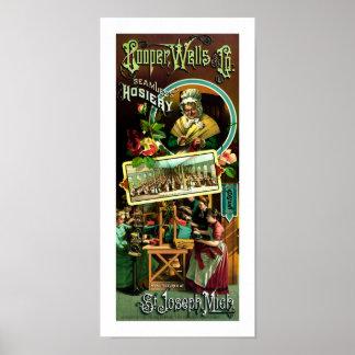Cooper Wells Seamless Hosiery Poster