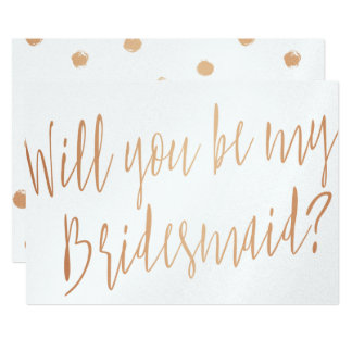 "Cooper ""Will you be my bridesmaid"" Card"