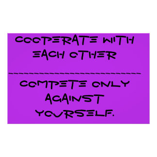 Cooperate Posters
