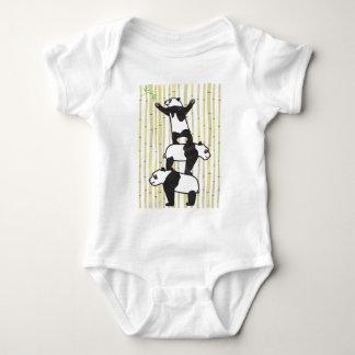 Cooperating Pandas Baby Bodysuit