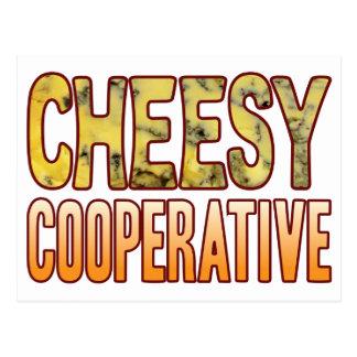 Cooperative Blue Cheesy Postcard
