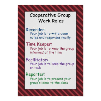 Cooperative Group Work Rules Poster