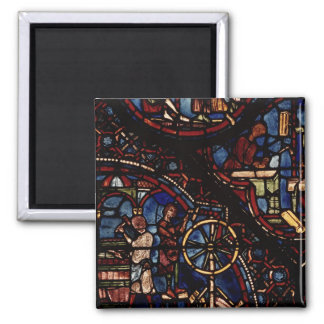 Coopers at work, from the Life of St. Julian 2 Inch Square Magnet