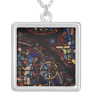 Coopers at work, from the Life of St. Julian Square Pendant Necklace