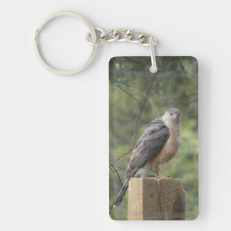 Cooper's Hawk Add Photo Acrylic Keychain