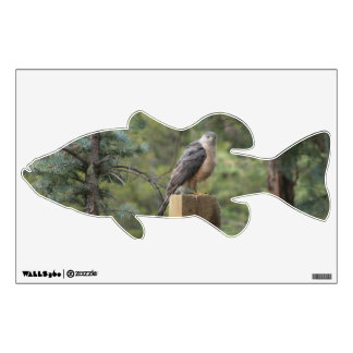 Cooper's Hawk Bass Wall Decal