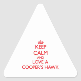 Cooper's Hawk Triangle Stickers