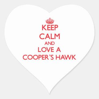 Cooper's Hawk Heart Sticker