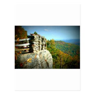Coopers Rock overlook in Fall. West Virginia Postcard