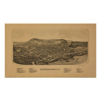 Cooperstown NY 1890 Poster