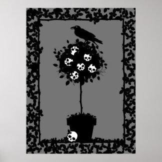Coordenadas malvados del Topiary Impresiones
