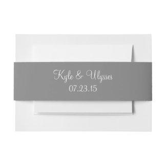 Coordinación de gama alta gris del color de la cintas para invitaciones