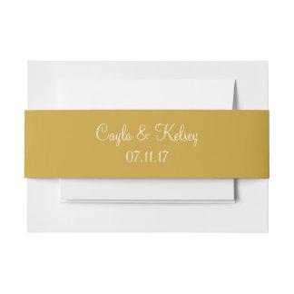 Coordinación de moda del color del oro de Sheen Cintas Para Invitaciones