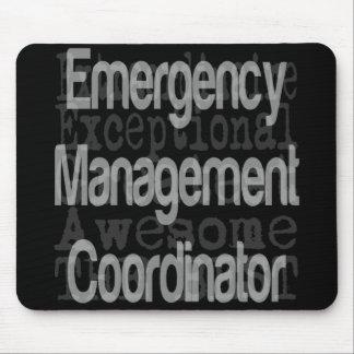 Coordinador de la gestión de emergencia alfombrilla de ratones