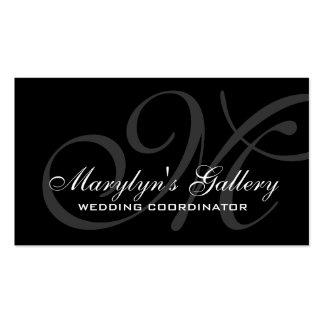 Coordinador elegante del boda del monograma tarjetas de visita