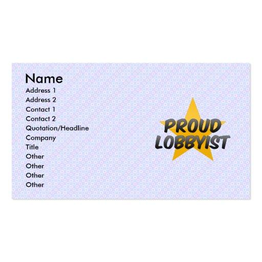 Coordinador orgulloso de los acontecimientos plantillas de tarjetas personales