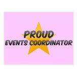 Coordinador orgulloso de los acontecimientos tarjetas postales