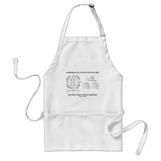 Coordinates To Success In Life Position Physics Adult Apron