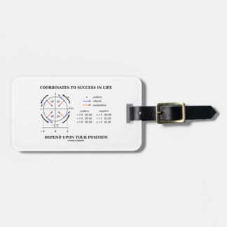 Coordinates To Success In Life Position Physics Bag Tag