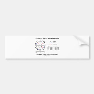 Coordinates To Success In Life Position Physics Car Bumper Sticker