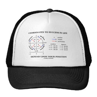 Coordinates To Success In Life Position Physics Trucker Hat