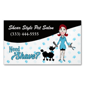 Coordinating Blue Need a Shave? Funny Custom Business Card Magnet