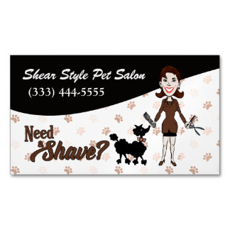 Coordinating Brown Need a Shave? Funny Custom Magnetic Business Card