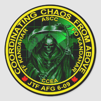 Coordinating Chaos From Above Round Sticker