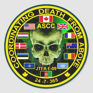 Coordinating Death From Above Round Stickers