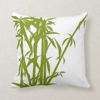 Coordinating Green Bamboo/Solid Green Pillow