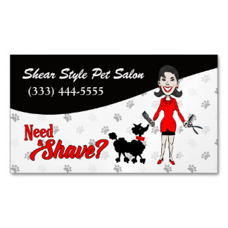 Coordinating Red Need a Shave? Funny Custom Magnetic Business Card