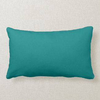 Coordinating Turquoise and Teal Solid Colors Lumbar Pillow